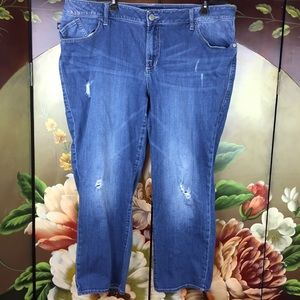 Rock & Republic Distressed Plus Sized Blue Jeans